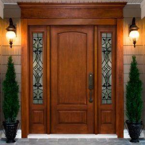 model pintu jati minimalis